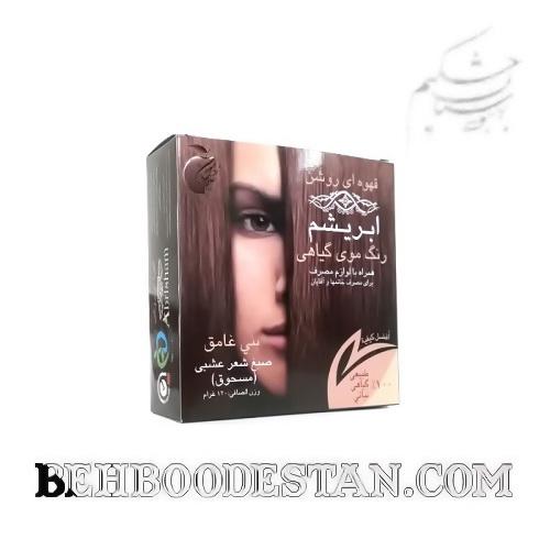 رنگ موی گیاهی ابریشم – قهوه ای روشن / طب سنتی